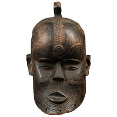 Kete Tribal Helmet Mask, Congo, Africa