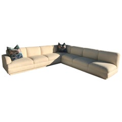 Large 2-Piece Sectional Vintage Modern Sofa by A. Rudin for Steve Chase Estate