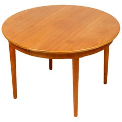 Mid-Century Modern Danish Folding and Round Dining Table, 1960s
