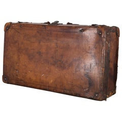 Antique Leather Luggage, circa 1940s
