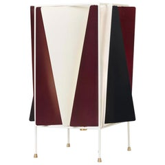 Greta Grossman B-4 Table Lamp, Chianti Red