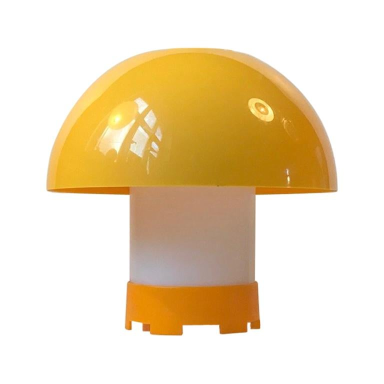 Yellow Danish Table- or Pendant Lamp by Bent Karlby for ASK Belysninger, 1970s For Sale