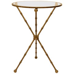 Midcentury French Brass Drink Table