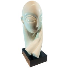 1970s Plaster Female Sculpture