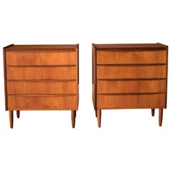 Pair of Vintage Danish Teak Dresser Chests