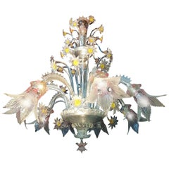 Mid-20th Century Chandelier by Seguso, 8 Arms, Murano, 1950s