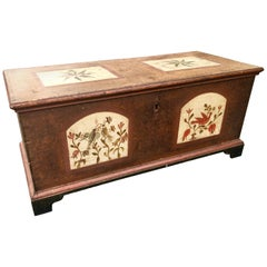 Folk Art Paint Decorated Blanket Chest by Fraktur Artist Heinriech Otto, 1790
