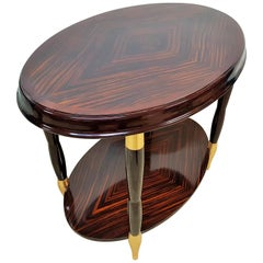 Art Deco Macassar Side Table Console, France, 1925