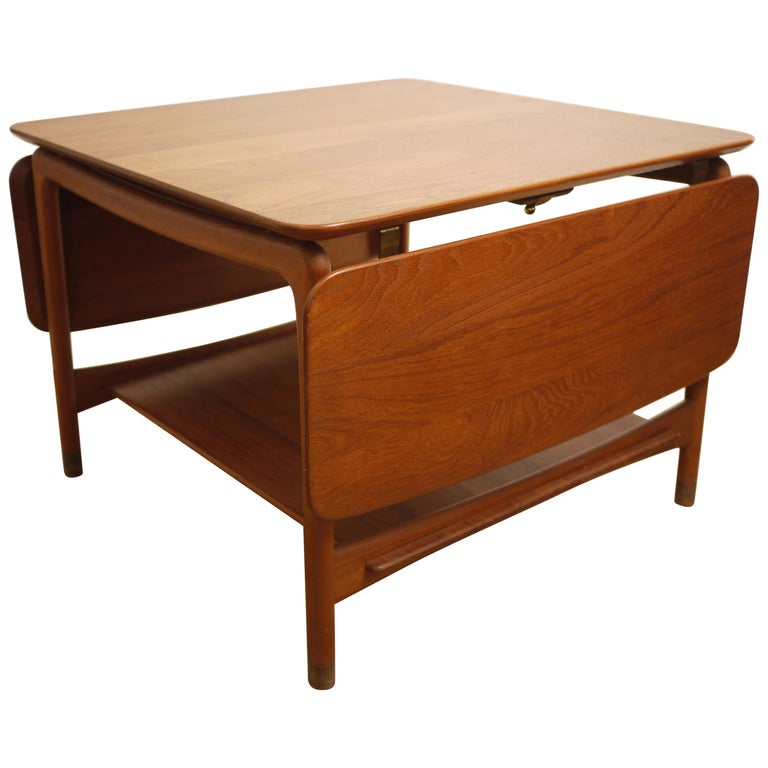 Orla Retro Coffee Table: Peter Hvidt And Orla Molgaard Square Teak Coffee Table For