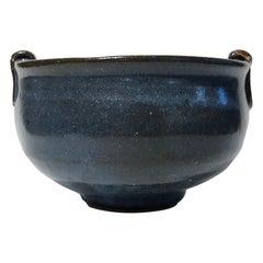 """Warren MacKenzie Blue Glazed """"Double Rim"""" Bowl"""