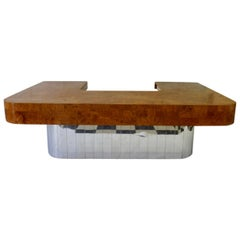 What Every Executive Needs Paul Evans Burl Top City Scape Desk for Directional