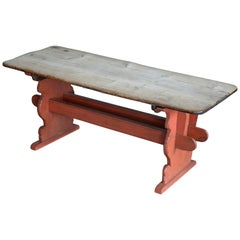 Country or Provence Style Dining Table in Rustic Pine from Denmark, circa 1900