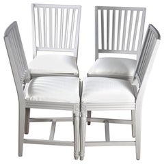 4 Swedish Gustavian Dining Chairs