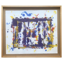 Abstract Monotype Sam Francis, 1980s