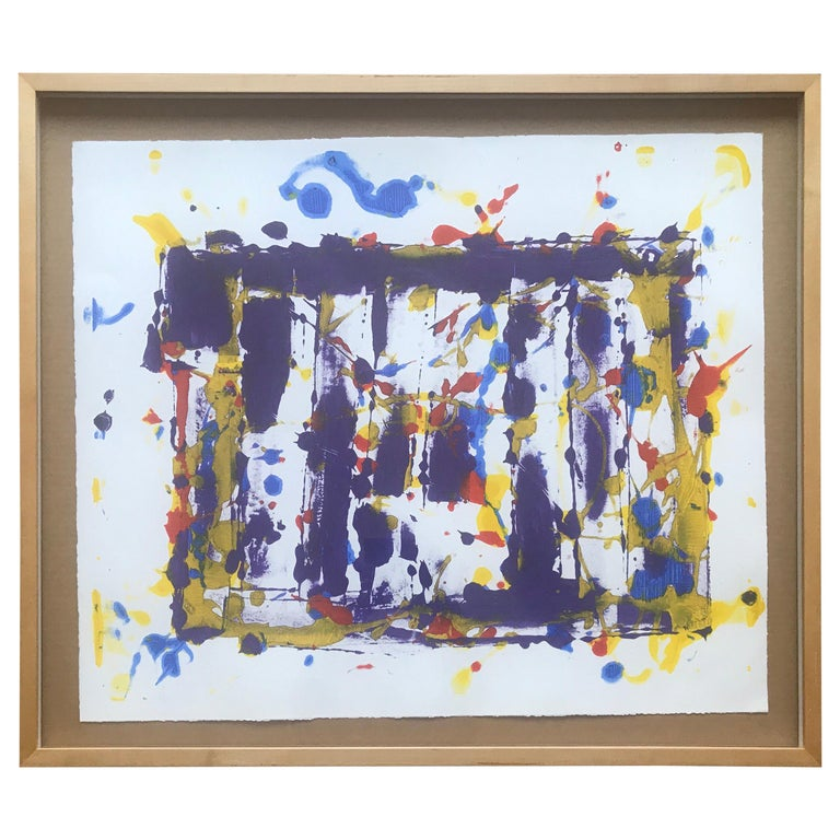 Abstract Monotype Sam Francis, 1980s For Sale
