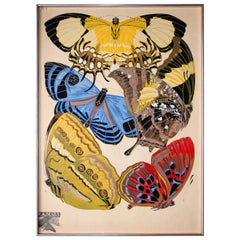 "Emile-Alain Seguy ""Papillons' Plate 4 French Art Deco"