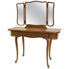 Vanity Make-Up Table Set with Mirror by Jofi Mobel, circa 1950s