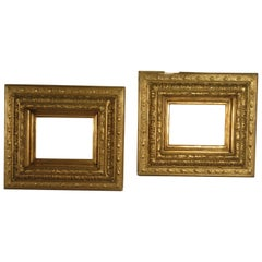 Pair of 19th Century Gilt Gesso Frames