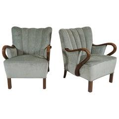 Pair of Danish Modern 1940s Armchairs