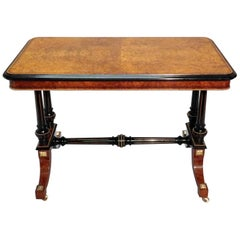 Victorian Amboyna and Ebonised Occasional Side Table Attributed to Gillows