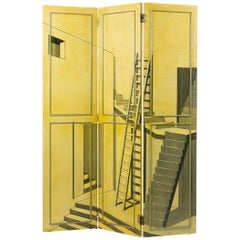 Trompe L'oeil Screen in the Manner of Piero Fornasetii