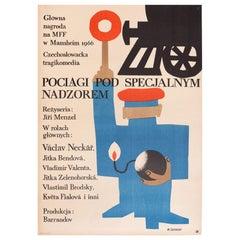 Vintage Polish Closely Watched Trains by Maciej Zbikowski for CWF, 1967
