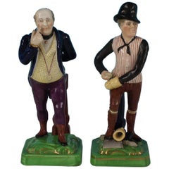 Pair of Dudson Staffordshire 'Mr Pickwick & Sam Weller' Figures