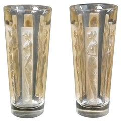 René Lalique Glass 'Six Figurine' Shot Glasses 'Two'