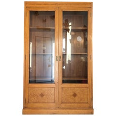 Art Nouveau Showcase Cabinet Bookcase or Office Cabinet