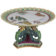 Wedgwood Majolica Bird and Butterfly Compote