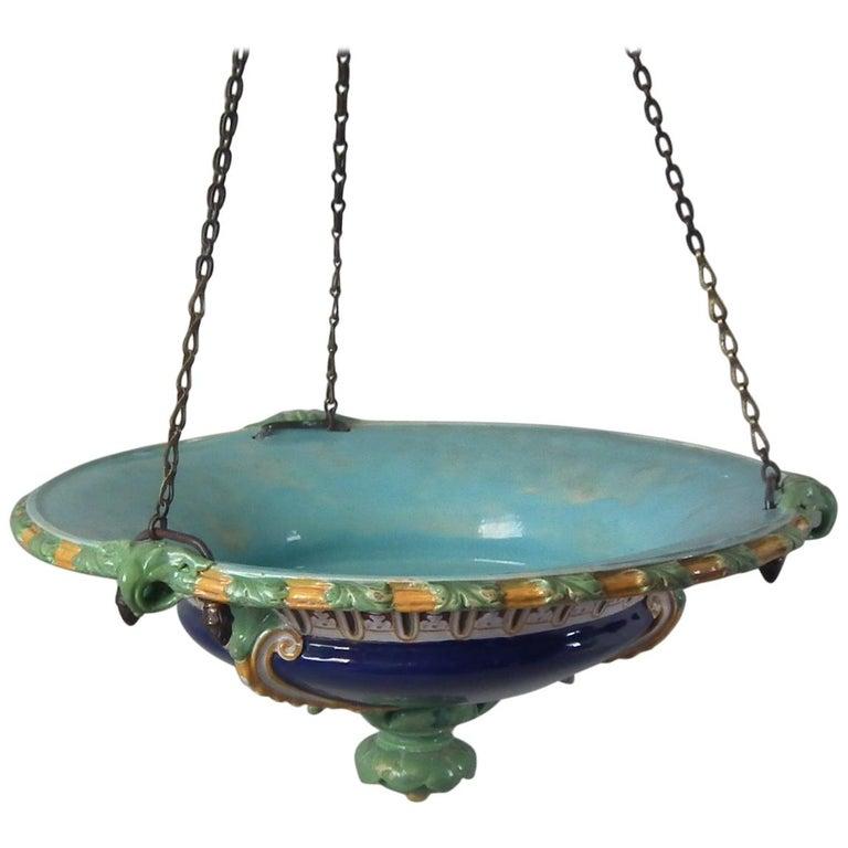 Minton Majolica Hanging Basket For Sale