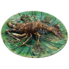 Renoleau French Palissy Majolica Lobster Wall Plaque