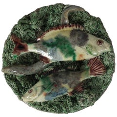 Small Mafra Majolica Palissy Fish and Eel Plate