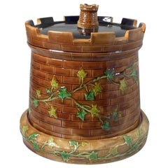 Brownfield Majolica Castle 'Tower' Cheese Dome