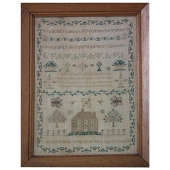 Antique Sampler, 1845, by Hannah Sims