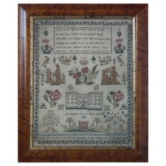 Antique Sampler, 1834, Sarah Ann Wallace, Nottingham