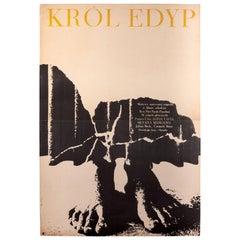 Vintage Polish Oedipus Rex by Bronisław Zelek for CWF, 1967