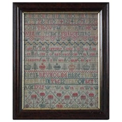 Antique Sampler, 1735, Sarah Reynolds