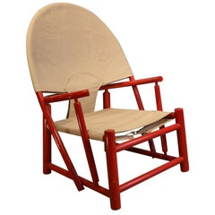 Red Armchair by Piero Palange and Werther Toffoloni for Germa