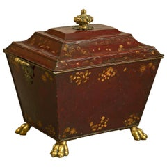 Early 19th Century Regency Period Tole Coal Bin