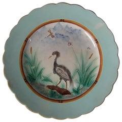Wedgwood Majolica Heron Plate