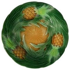 George Jones Majolica Pineapple Plate