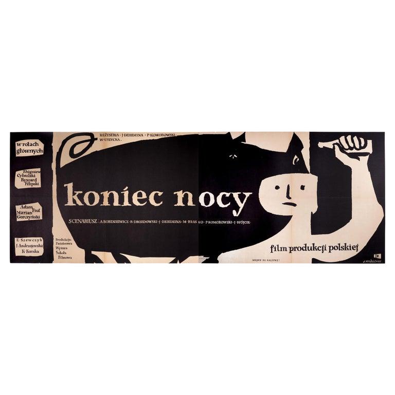 Vintage Polish Koniec Nocy Movie Poster by Jan Młodożeniec for CWF, 1956 For Sale