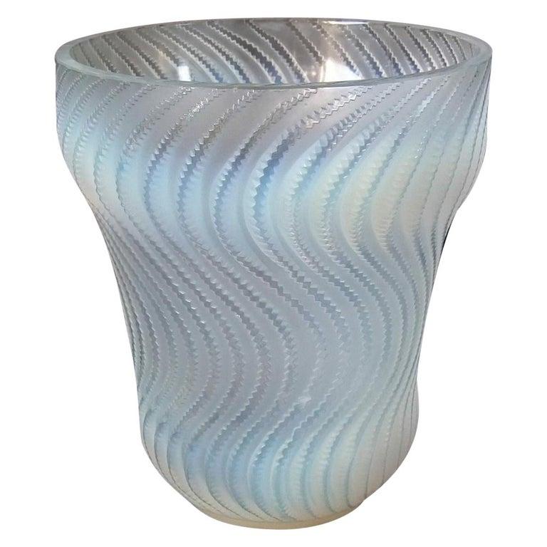 René Lalique Opalescent Glass 'Actinia' Vase For Sale