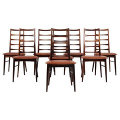 "Set of Eight Niels Koefoed Dining Chairs, Model ""Lis"", Rosewood, 1960s"