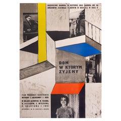 Vintage Polish Dom W Którym Żyjemy by Wojciech Fangor for CWF, 1958