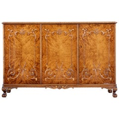 Mid-20th Century Rococo Inspired Birch Sideboard