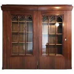 Large Vitrine Cabinet Jugendstil Book Shelve