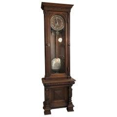 Original Historism Antique Standing Clock / Grandfather Clock with Pendulum