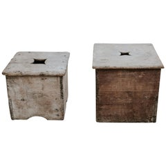 2 Pinewood 19th Century Stools